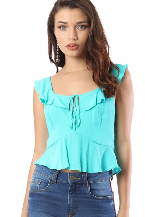 fb499e28b5b Blusa Babado Decote V Costas - myplace Mobile